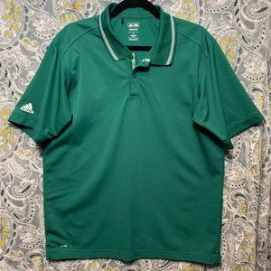 ADIDAS Men's Medium Green Climalite Polo